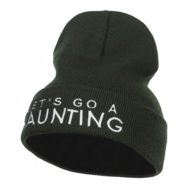 Let's Go Haunting Embroidered Long Beanie