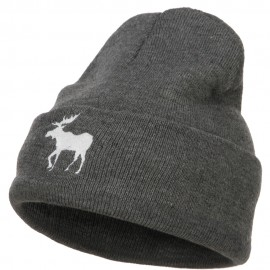 American Moose Embroidered Long Beanie