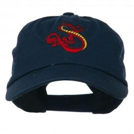 Oriental Dragon Embroidered Washed Cap