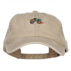 Mini Monster Truck Embroidered Washed Cap
