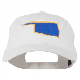 Oklahoma State Map Embroidered Cap