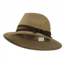 Women's Double Tie Accent Outback Felt Hat
