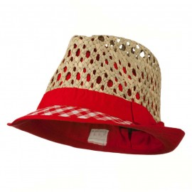 Open Weave Sea Grass Fedora Hat