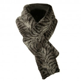 Plush Animal Scarf - Grey