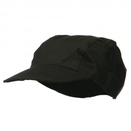 3 Panel Cotton Twill Sports Cap - Black