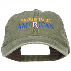 Proud to be American Embroidered Washed Cap