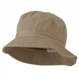 Pigment Dyed Bucket Hat-Khaki