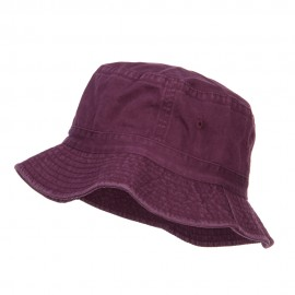 Pigment Dyed Bucket Hat-Burgundy