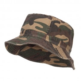Pigment Dyed Bucket Hat-Green Camo