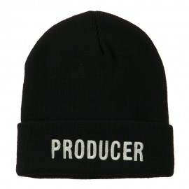 Producer Embroidered Long Beanie