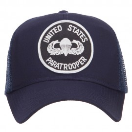 US Paratrooper Military Patched Mesh Cap