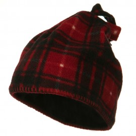 Plaid Design Winter Fleece Hat