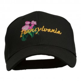 USA State Pennsylvania Flowers Embroidered Cotton Cap