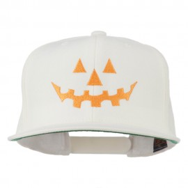 Halloween Pumpkin Face Embroidered Snapback Cap