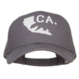 California Map Bear Embroidered Big Cotton Cap