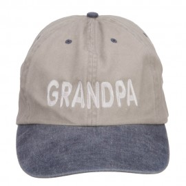 Grandpa Embroidered Big Washed Cap