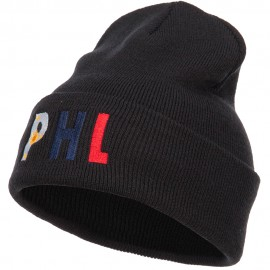 Philippines Embroidered Long Beanie
