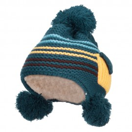 Kid's Striped Pocket Ski Beanie