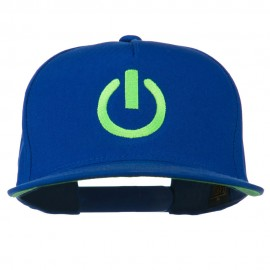 Power Icon Embroidered Snapback Cap - Royal