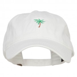 Palm Tree Embroidered Washed Cap