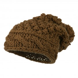 Women's Knit Pom Deep Beanie