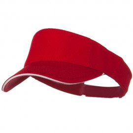 Pro Mesh Sandwich Sun Visor - Red White