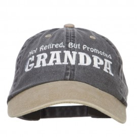 Not Retired Promoted Grandpa Embroidered Cap