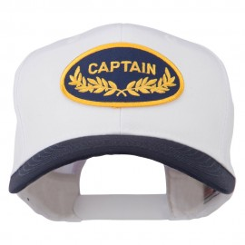 Captain Oak Leaf Military Patched Prostyle Cap