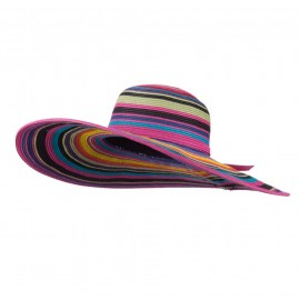 UPF 50+ Paper Braid Nylon Wide Brim Hat