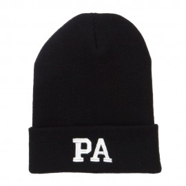 PA Pennsylvania State Embroidered Long Beanie