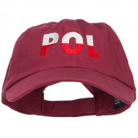 Poland POL Flag Embroidered Low Profile Cap