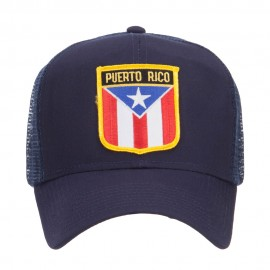 Puerto Rico Flag Patched Mesh Cap