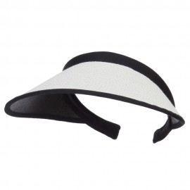 Toyo Braid Clip On Paper Visor - White