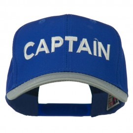 Captain Embroidered Cotton Twill Cap