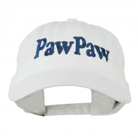 Wording of PawPaw Embroidered Washed Cap - White