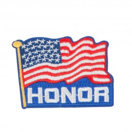 Proud American Flag Patches