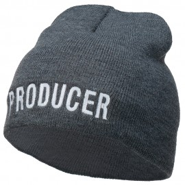Producer Embroidered Short Beanie
