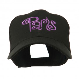 Paris Design Word Embroidery Cap