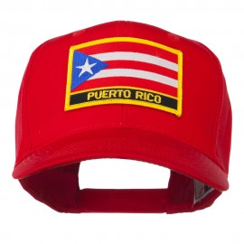 Puerto Rico Flag Letter Patched Cap - Red