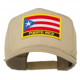 Puerto Rico Flag Letter Patched Cap