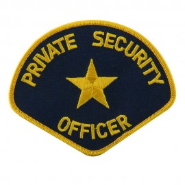 Private Security Officer Stock Shoulder Emblems