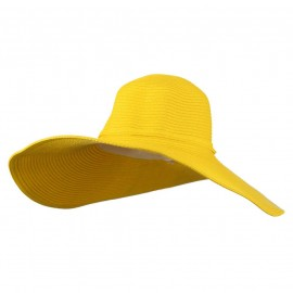 Woman's UPF 50+ Paper Straw Wide Brim Hat - Yellow
