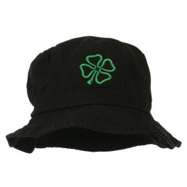 Saint Patrick's Four Leaf Clover Embroidered Bucket Hat