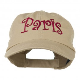Wording of Paris Embroidered Cap
