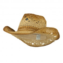 Toyo Paper Cowboy Hat with Brown Wash