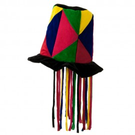 Patchwork Top Hat with Cord
