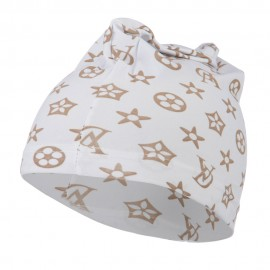 Pattern Real Fit Spandex Skull Cap - White