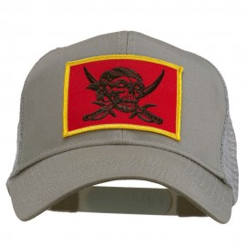 Skull Choppers Pirate Patched Mesh Cap