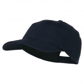 6 Panel Unstructured Pro Style Cap - Navy