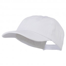 6 Panel Unstructured Pro Style Cap - White
